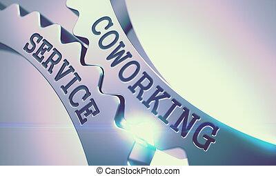 Coworking Service - Mechanism of Metal Gears. 3D. -...