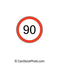 Prescribed minimum speed road sign