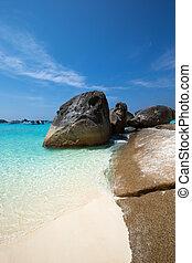 tropical similan island white beach - Thailand