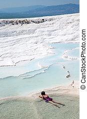 peru,  UNESCO,  Travertine, Terraços,  -, local, famosos, herança, piscinas, mundo,  Pamukkale, turistas,  Pamukkale