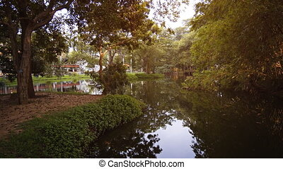 Peaceful Garden Pond at a Habarana, Sri Lanka Resort - Sky...