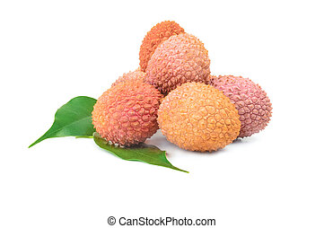 Litschi - Litchi isolated on a white cutout