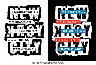Typography New York City, Vector.