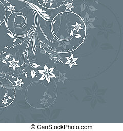 Floral design - Abstract background with a decorative floral...