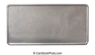 metal plate - license plate back - no holes - metal plate -...