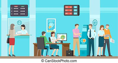 Very High Quality Banking Service Illustration - Banking...