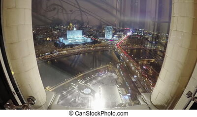 Moscow at night top view