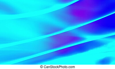 Blue ripple with magenta looping abstract CG background -...