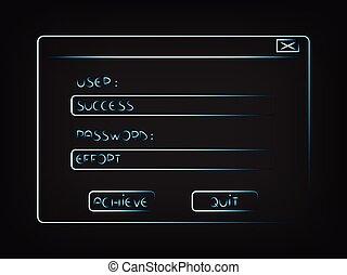 user Success password Effort pop-up - user Success password...