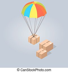 Fast and Convenient Delivery Isolated Illustration - Fast...
