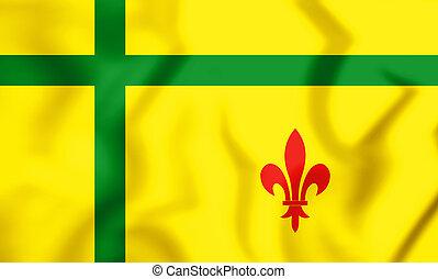 +Bandera_dels_Fransaskois (1) - 3D Flag of Fransaskois,...