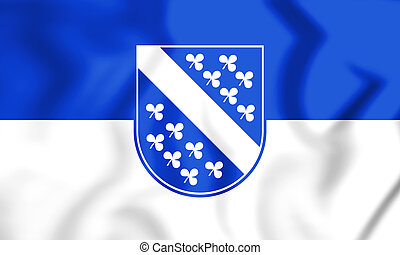 Flagge_Kassel - 3D Flag of Kassel (Hesse), Germany. 3D...