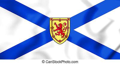 3D Flag of Nova Scotia, Canada. 3D Illustration.