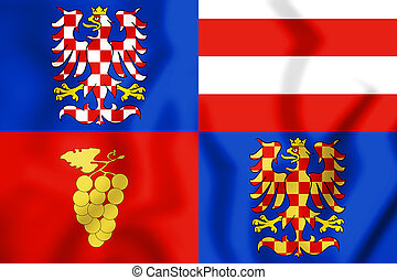 Flag_of_South_Moravian_Region - 3D Flag of South Moravian...