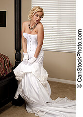 Bride Striptease Series #4 - Beautiful Voluptuous Bride...