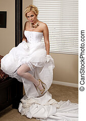 Bride Striptease Series #5 - Beautiful Voluptuous Bride...