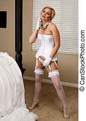 Bride Striptease Series #6 - Beautiful Bride Performing a...