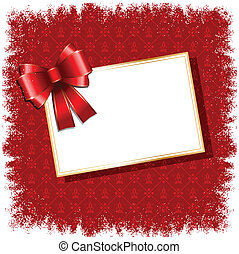 christmas gift label background - Christmas background with...