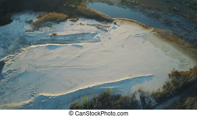 Flight over the sand mining company - Flight over the...