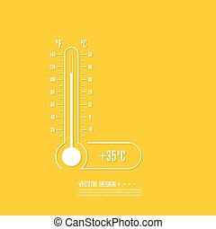 meteorology thermometer with Celsius, Fahrenheit