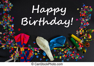 Happy Birthday - a colourful party background