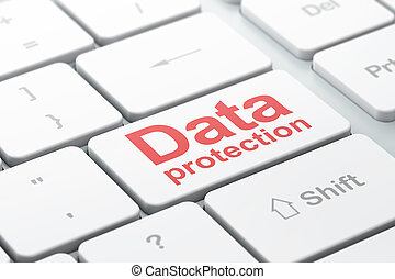 Security concept: Data Protection on computer keyboard background
