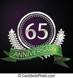 Sixty five years anniversary celebration with silver ring...