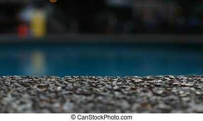 Swimming pool with sandstone and grass floor - Swimming pool...