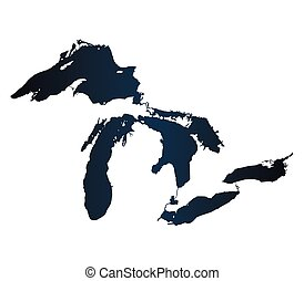 Map of Great Lakes Carbon Version