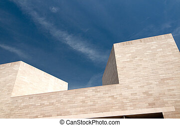 Modern Building Abstract--National Gallery of Art