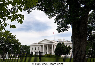 White House - The North Entrance to the White House in...