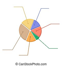 Colorful business chart pie.