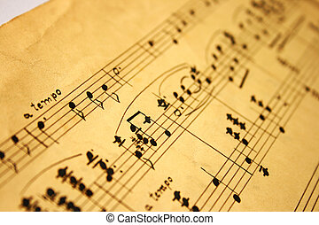 classical music notes - grunge music notes