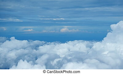 Dense Bank of Cumulus Clouds from Above. 1080p video -...