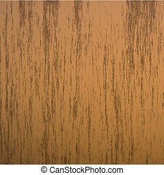 Isolated realistic seamless wooden texture vector illustration, hardwood background