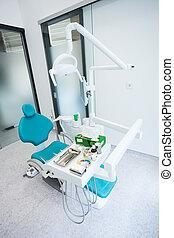interno, dentale, moderno, ufficio