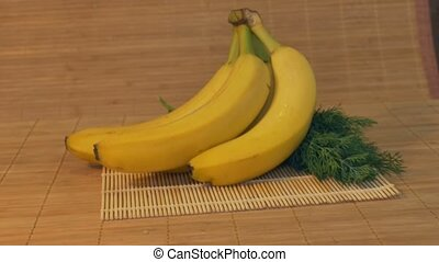 Bananas in the Kitchen - Sliding to fresh bananas in the...