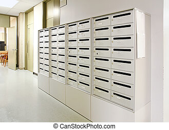 Mailbox in hallway