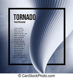 Isolated abstract tornado hurricane,natural disaster vector illustration