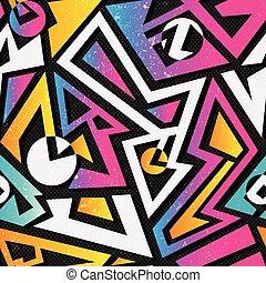 Music geometric seamless pattern