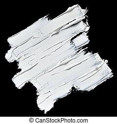 White oil paint brush strokes - White oil paint textured...