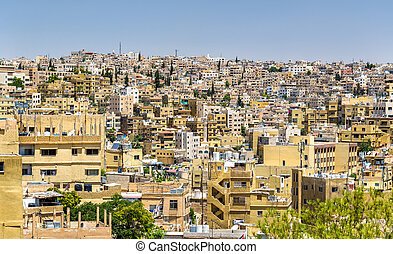 Cityscape of Amman, Jordan - Cityscape of Amman, the capital...