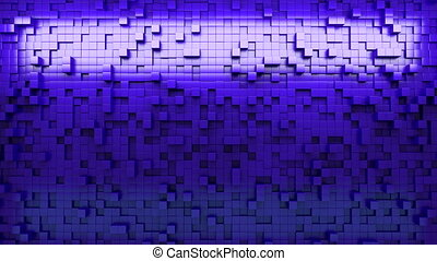 3d rendering wall of extruded cubes - Wall of extruded cubes...