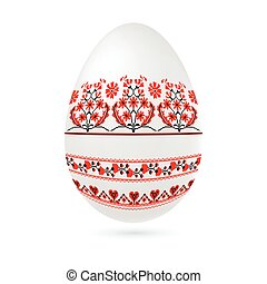 Easter ethnic ornamental egg with cross stitch pattern....