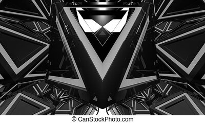 VJ 4K Strobe Animation - 4K abstract black and white VJ...