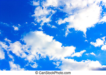 Cirrus Clouds on blue sky