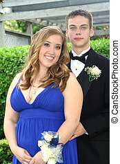 Young Prom Couple Portrait