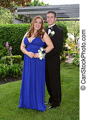 Young Prom Couple