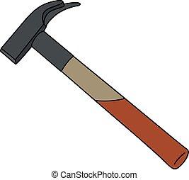 Classic carpenter hammer
