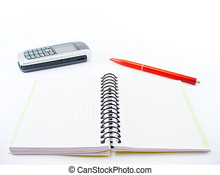 workbook - Business workbook on a white table
